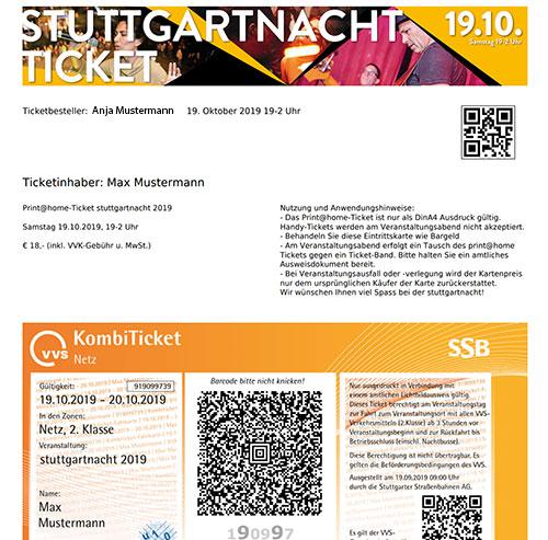 Stuttgartnacht - ticket