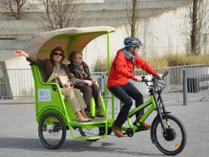 Stuttgartnacht - reallabor mobilitaetskultur buerger rikscha